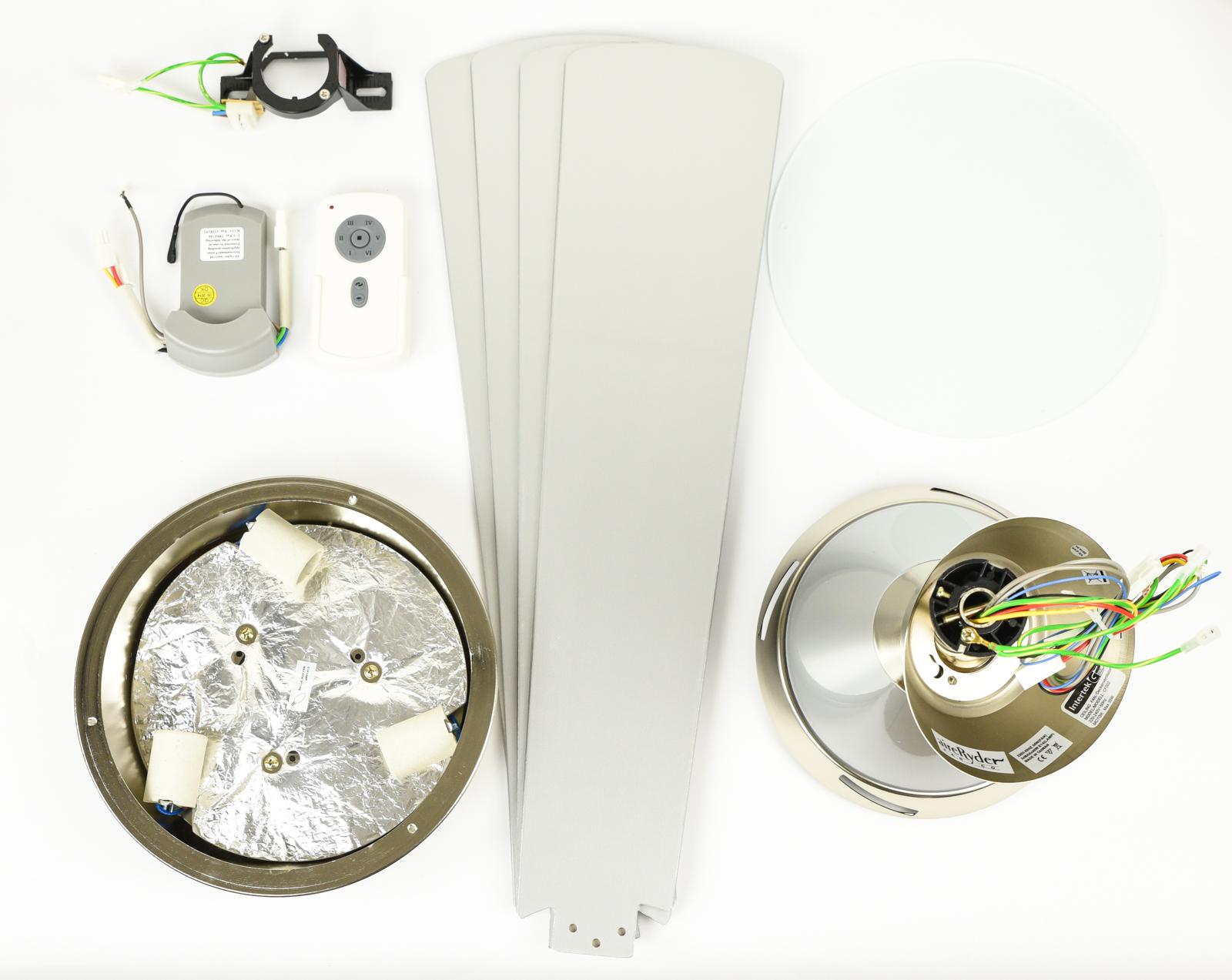 Energiespar-Deckenventilator-Cosmo-1 Elegantes Deckenventilator Mit Fernbedienung Und Beleuchtung Dekorationen