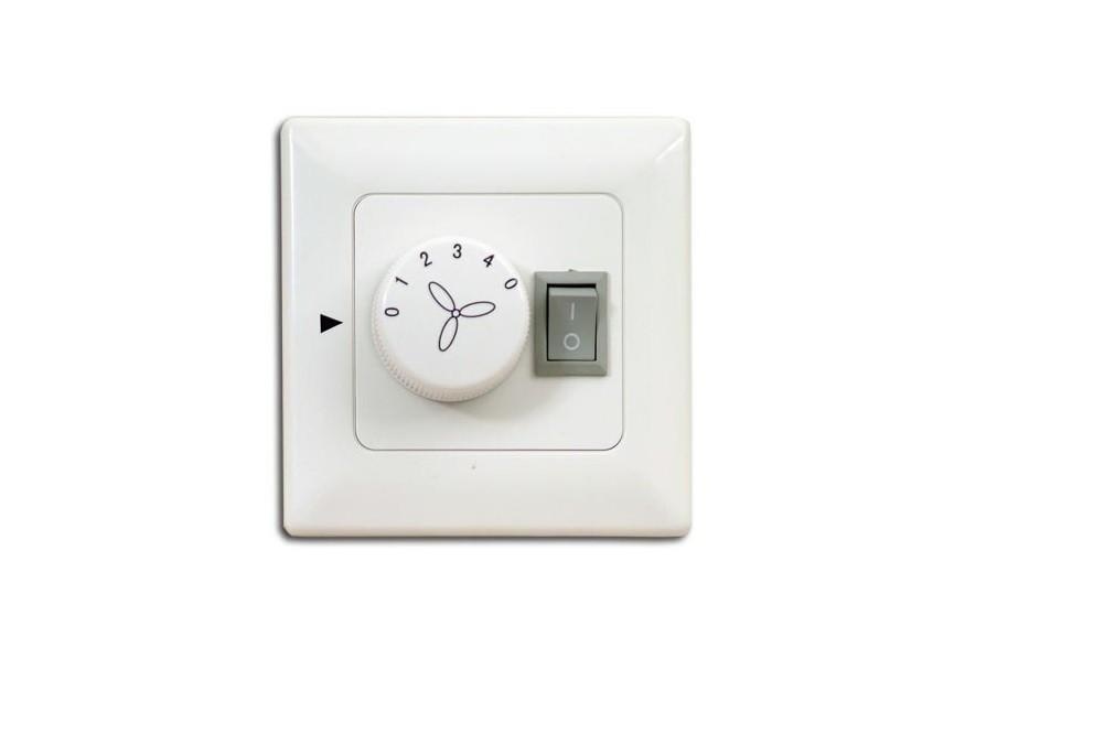 Wandschalter / Stufenschalter für Deckenventilator mit Licht - Aufputz