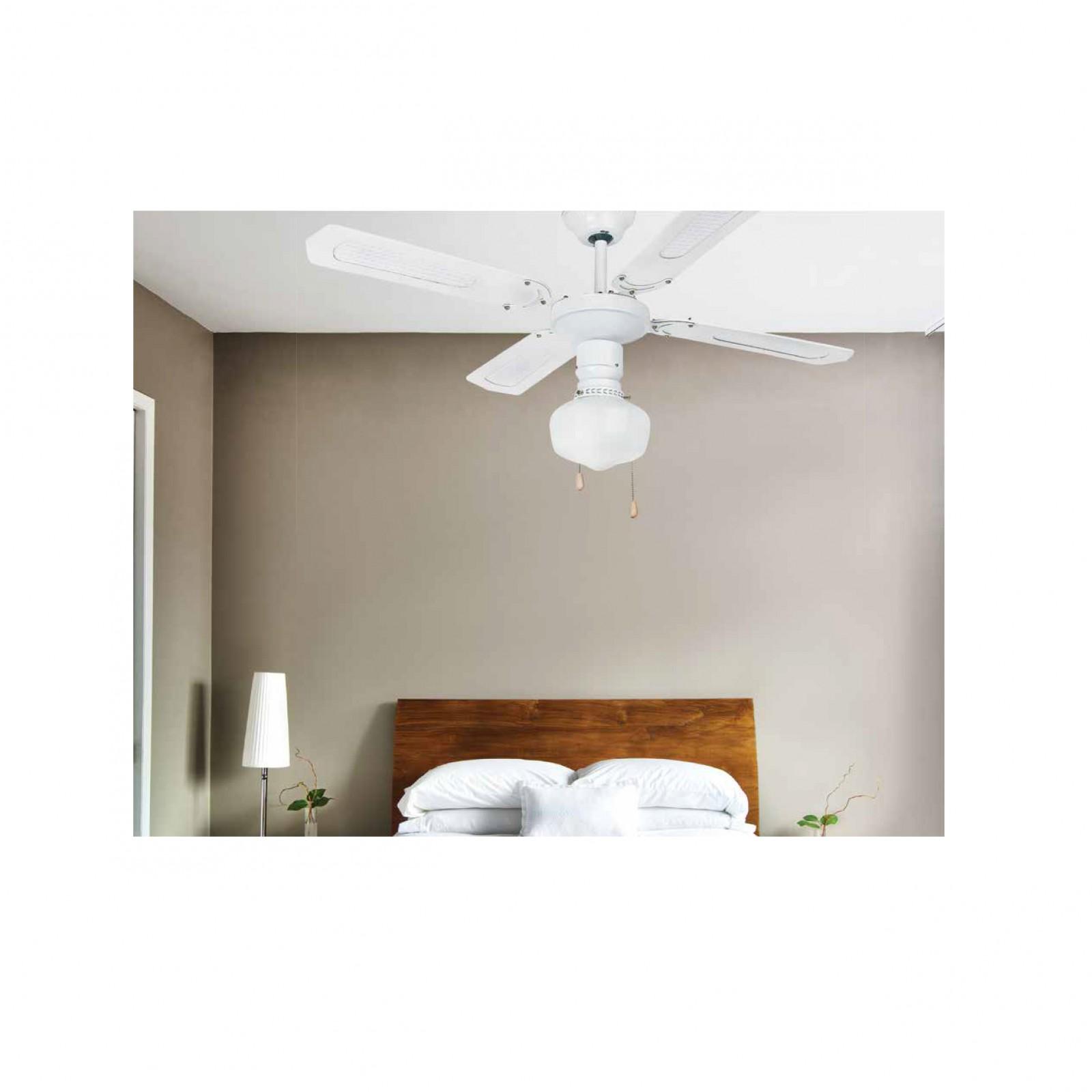 deckenventilator aruba wei mit beleuchtung und zugschnur 106 cm von faro deckenventilator. Black Bedroom Furniture Sets. Home Design Ideas