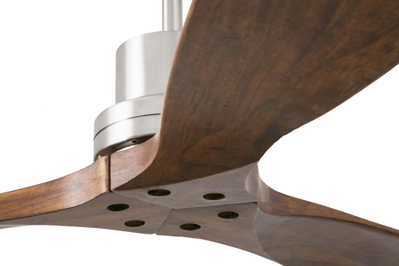 Deckenventilator Lantau Matt Nickel 132 cm mit Fernbedienung von Faro ...