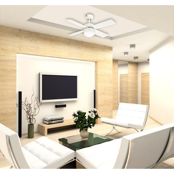 deckenventilator colosseum wei inklusive led beleuchtung dimmbar und fernbedienung von. Black Bedroom Furniture Sets. Home Design Ideas