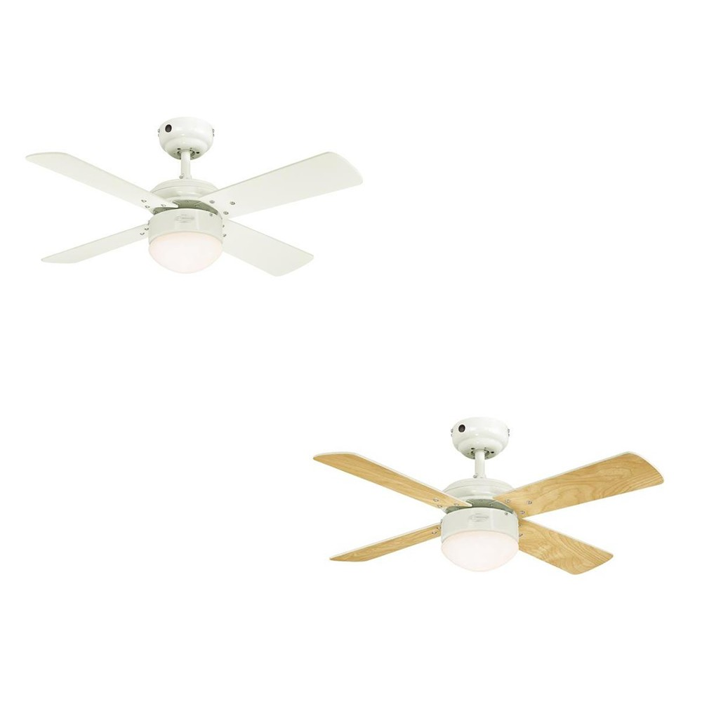 ceiling fan colosseum white with led lighting dimmable and. Black Bedroom Furniture Sets. Home Design Ideas