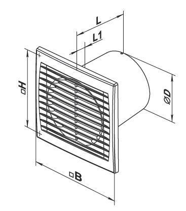 Vents Lüfter Energiespar Badlüfter 100 Silenta-S Serie bis 78 m³/h in verschiedenen Ausführungen IP34