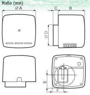 Kleinraumventilator Ariett in verschiedenen Ausführungen