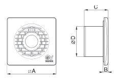 Kleinraumventilator Filo MF 90 mit und ohne Nachlaufrelais