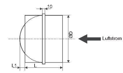Rohr-Rückschlagklappe Lineo S in verschiedenen Nennweiten