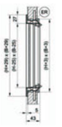Lenklamellengitter CasaFan LG-O Stahl in verschiedenen Ausführungen