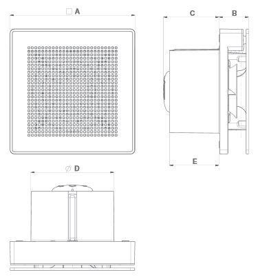 Kleinraumventilator Punto-Evo-ME 100