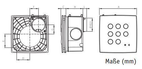 kleinraumventilator schachtventilator quadro micro i 100 up 110m h ebay. Black Bedroom Furniture Sets. Home Design Ideas