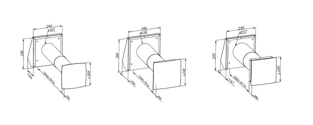 Lüftungsanlage TwinFresh Comfo Serie RA1-25, RA1-35, RA1-50 IP24