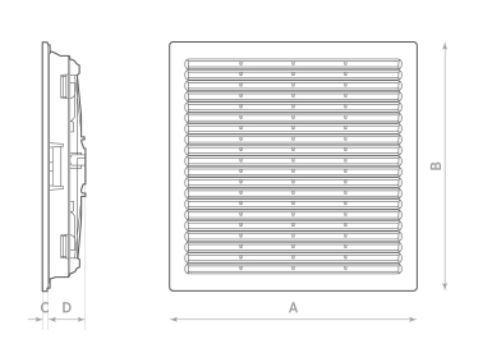 G 32 S Ausstroemungsgitter mit Filtereinsatz fuer Oerre RC 20.32 S Axialventilator