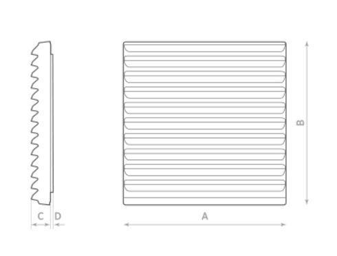 Auslassgitter mit Filter Set fuer O.ERRE RC 14.25 Axial Schaltschrankventilator