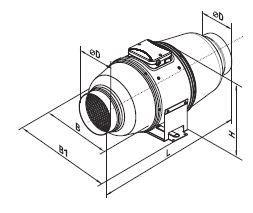 Vents Rohrlüfter, Rohrventilator, Zweistufenmotor Lüfter TT Silent M 100 Serie bis 240 m³/h in IPX4 mit Kugellager