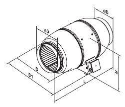 Vents Rohrlüfter, Rohrventilator, Zweistufenmotor Lüfter TT Silent M 200 Serie bis 1020 m³/h IPX4 mit Kugellager