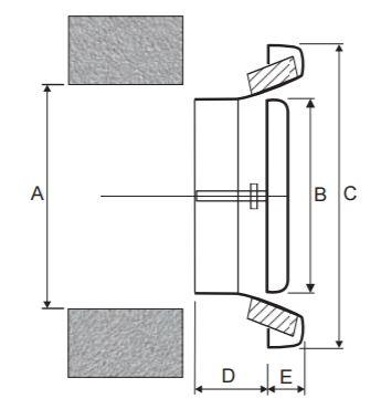 CasaFan ATVM exhaust extractor air valve dimensions in mm