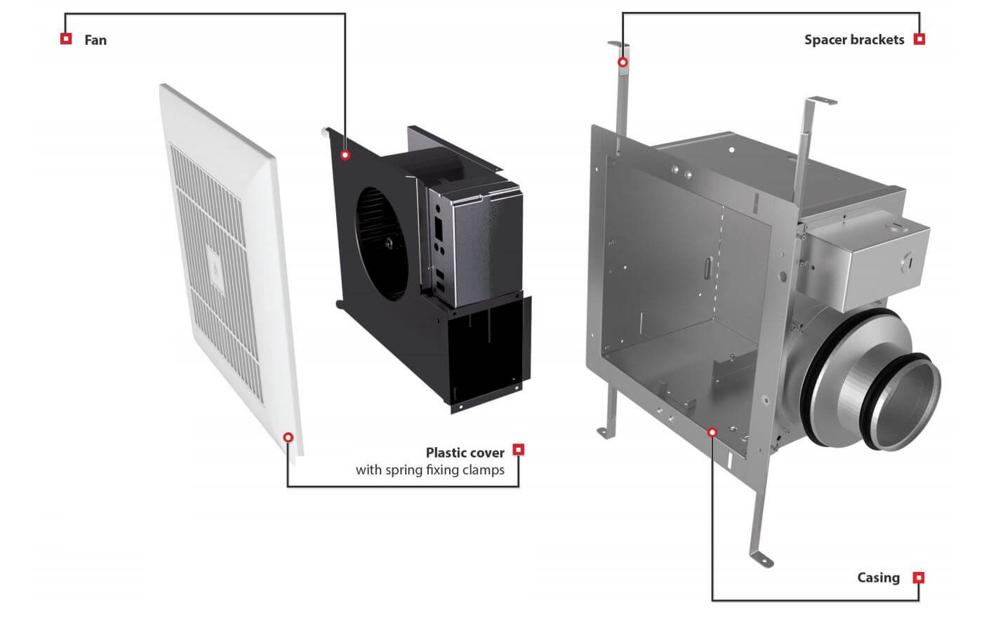 CBF extractor fan mounting scheme