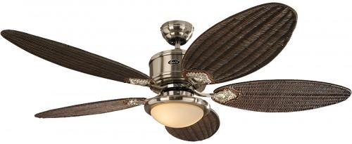 Deckenventilator Mit Beleuchtung Antik : Deckenventilator Eco Elements BN mit Flügelsatz Rattan Antik ...