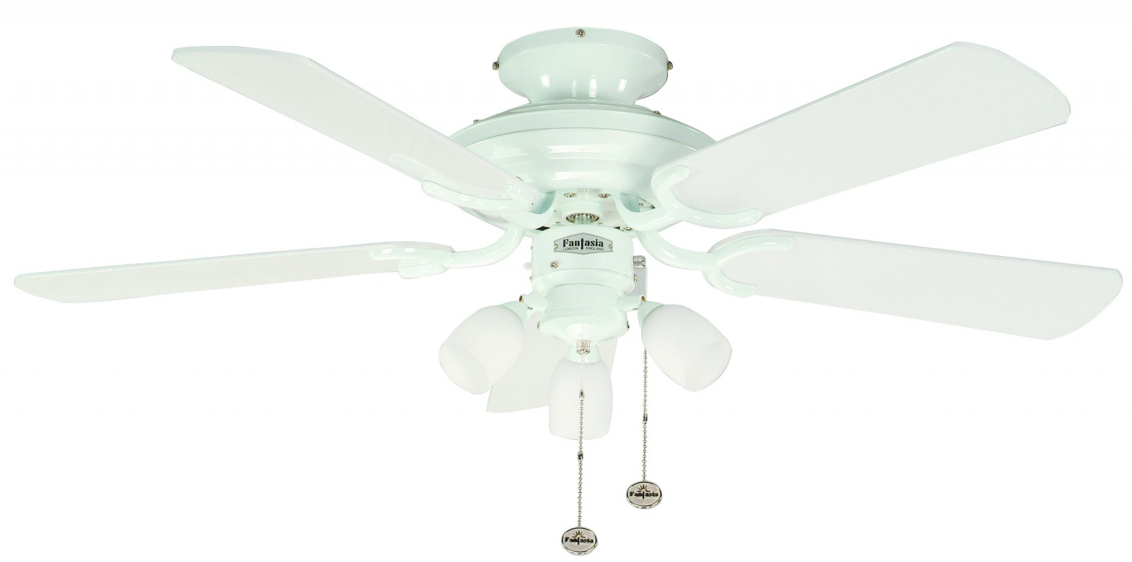 Fantasia Ceiling Fan Mayfair Combi White With Light And